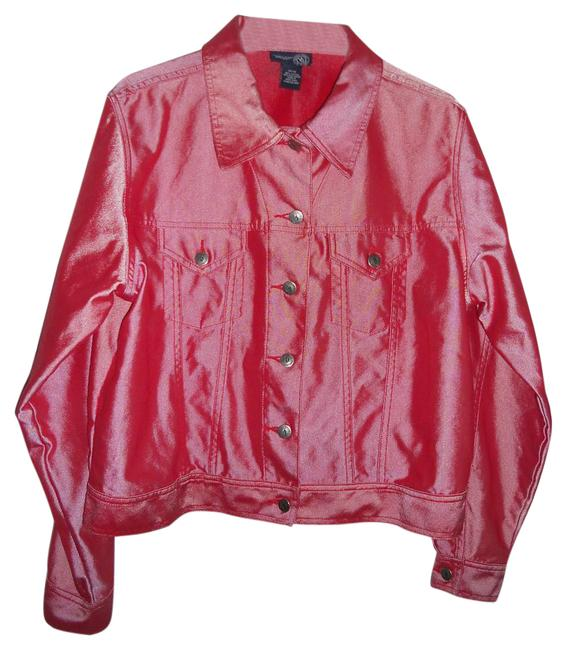 Item - Shimmer Red. Size:14/16. Please See Measurements. Ladies Jeans .excel.cond.size:14/16.cotton Blend. Jacket Size 16 (XL, Plus 0x)
