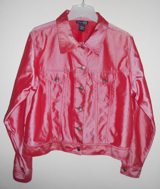 Venezia Shimmer Red. Size:14/16. please see measurements. Jacket Image 1