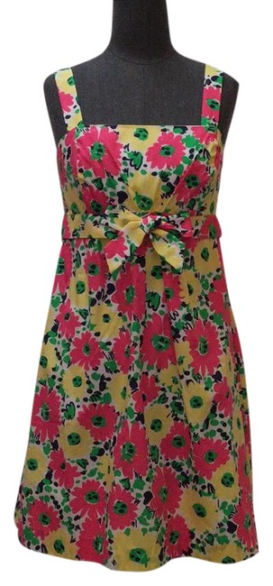 Preload https://img-static.tradesy.com/item/21378424/lilly-pulitzer-pink-yellow-kelly-green-and-navy-blue-cotton-floral-printed-sundress-short-casual-dre-0-1-650-650.jpg