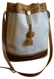 Gucci Vintage Leather Monogram Shoulder Bag