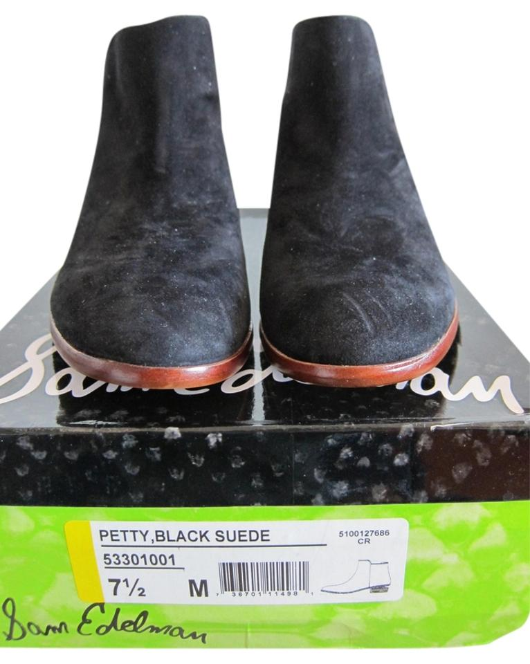 Sam Boots/Booties Edelman Black Suede Petty Boots/Booties Sam b54173