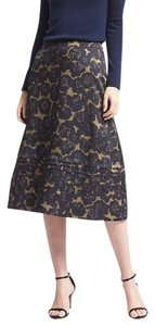 Banana Republic Floral A-line Skirt Multicolor