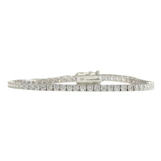 Preload https://img-static.tradesy.com/item/21378581/450-ctw-natural-diamond-14k-solid-white-gold-bracelet-0-0-540-540.jpg