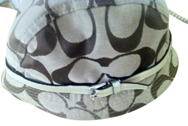 Item - Brown/Beige With Gold Leather Band Hat