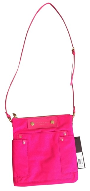 Item - M312236 Pop Pink Nylon Cross Body Bag