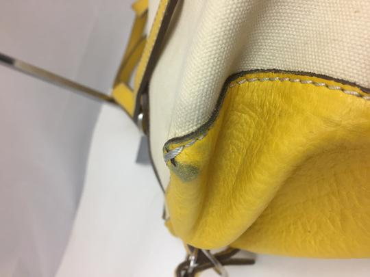 Hogan Nylon Leather Silver Hardware Tote in ivory,yellow Image 10