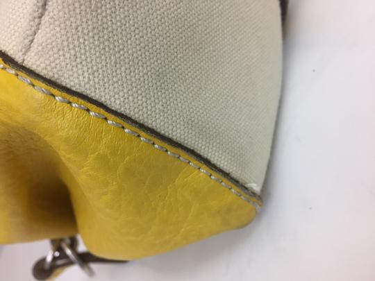 Hogan Nylon Leather Silver Hardware Tote in ivory,yellow Image 11