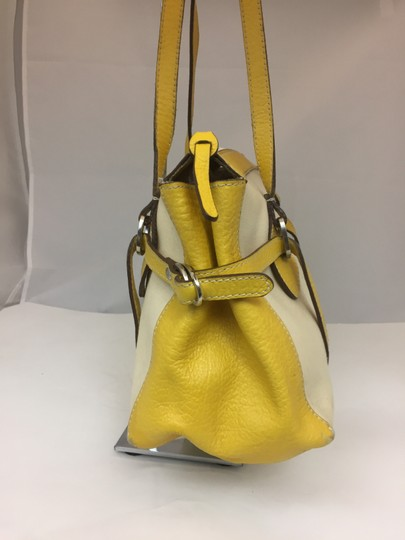 Hogan Nylon Leather Silver Hardware Tote in ivory,yellow Image 6