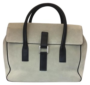 Gucci Suede Gg Princetown Satchel in TAUPE