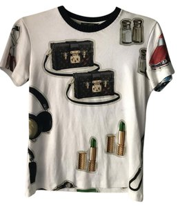 Louis Vuitton Designer Graphictee T Shirt White