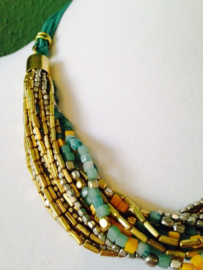 Kenneth Cole Kenneth Cole Gold-Tone Turquoise & Yellow Mixed Bead Necklace Only! Matching Pieces Sold Seperately.