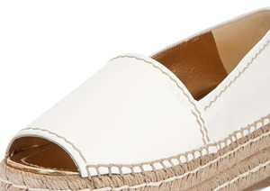 Prada white gold Wedges