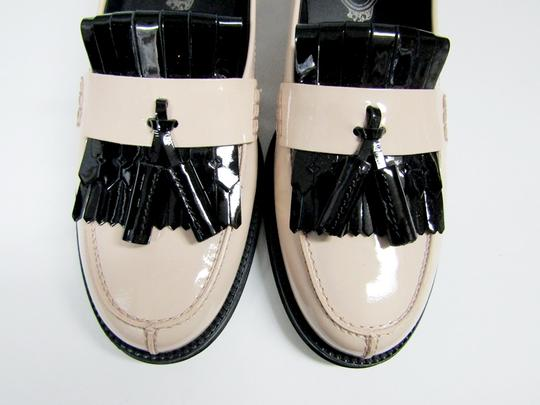 Tod's Loafers Moccasins Patent Leather Fringe Tassels nude/black Flats Image 1
