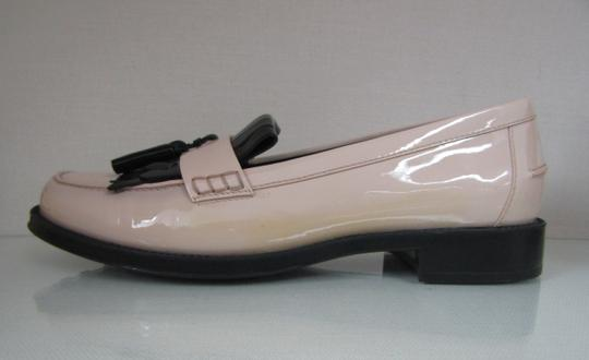 Tod's Loafers Moccasins Patent Leather Fringe Tassels nude/black Flats Image 6