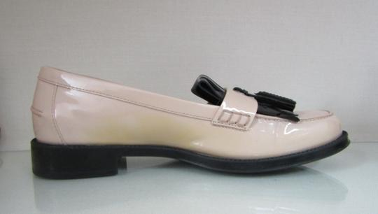 Tod's Loafers Moccasins Patent Leather Fringe Tassels nude/black Flats Image 7