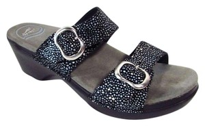 Dansko Casual Comfortable Leather Black Sandals