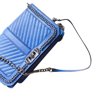 Rebecca Minkoff Leather Trendy Quilted Chain Cross Body Bag
