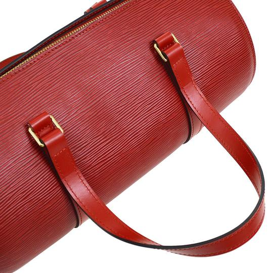 Louis Vuitton Vintage Leather Monogram Luxury European red Clutch Image 3