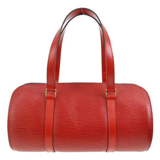 Louis Vuitton Vintage Leather Monogram Luxury European red Clutch Image 9