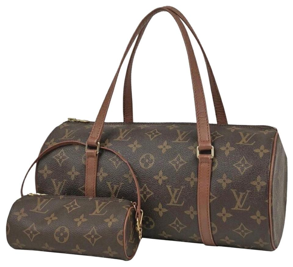 6ab774856dee Louis Vuitton Vintage Leather Monogram Luxury European brown Clutch Image 0  ...