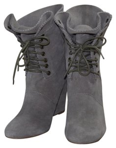 Betsey Johnson Suede Wedges Slouchy Taupe Boots