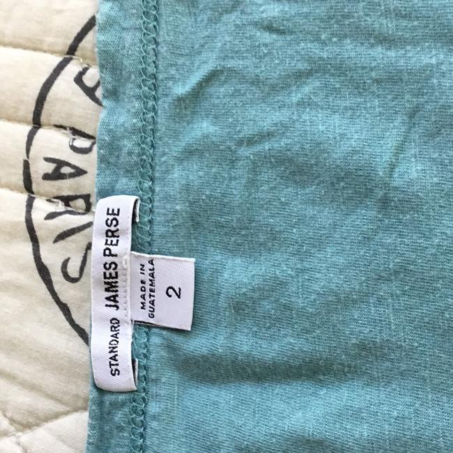 James Perse Scoop Neck Cotton T Shirt teal Image 1