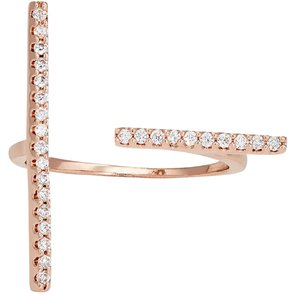 Fallon Rose Gold Edgy Fallon T Bar Ring 6