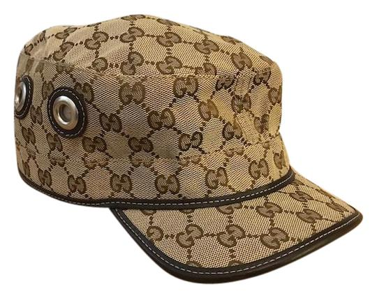 Preload https://img-static.tradesy.com/item/21379733/gucci-beige-brown-monogram-canvas-military-hat-0-1-540-540.jpg
