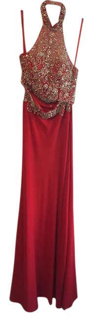 Item - Red (Sequined) Sp5260 Long Formal Dress Size 4 (S)