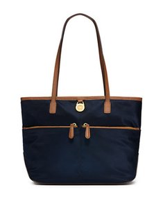Michael Kors Tote in Navy brown trim