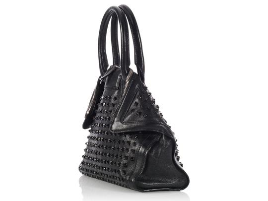 Alexander McQueen Spikes Am.l0130.07 Studded Foldover Leather Tote in black Image 3