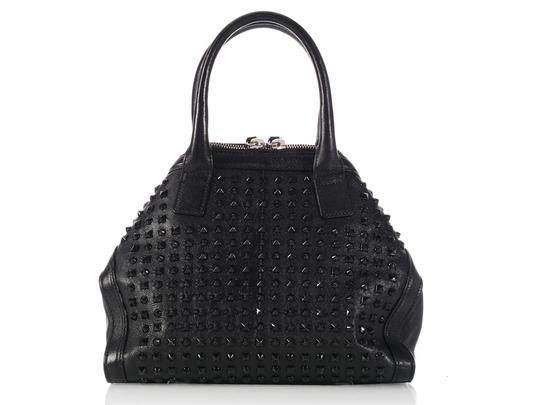 Alexander McQueen Spikes Am.l0130.07 Studded Foldover Leather Tote in black Image 4