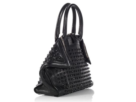 Alexander McQueen Spikes Am.l0130.07 Studded Foldover Leather Tote in black Image 5
