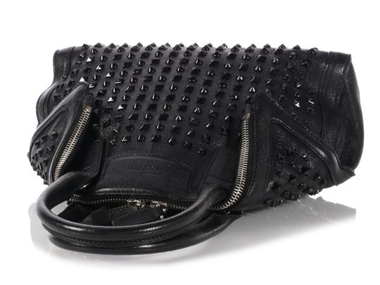 Alexander McQueen Spikes Am.l0130.07 Studded Foldover Leather Tote in black Image 6