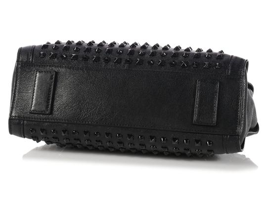 Alexander McQueen Spikes Am.l0130.07 Studded Foldover Leather Tote in black Image 7