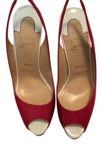Christian Louboutin Red Bottoms 42 12 Loubs Pink/Lime Green/White Pumps