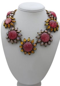 iRADJ Moini NEW SIGNED IRADJ MOINI PINK VINTAGE GLASS NECKLACE COLLECTIBLE