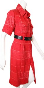 Chanel Vintage Clothing Fashion Red / Rouge Jacket
