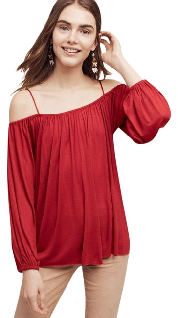Preload https://img-static.tradesy.com/item/21380044/anthropologie-red-traveler-cold-shoulder-blouse-tunic-size-10-m-0-1-650-650.jpg