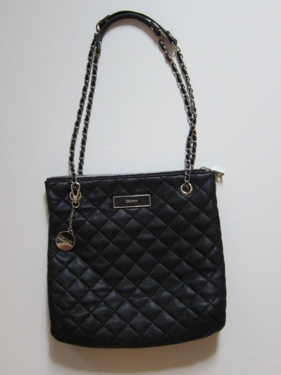 DKNY Shoulder Quilted Leather Cross Body Bag Image 1