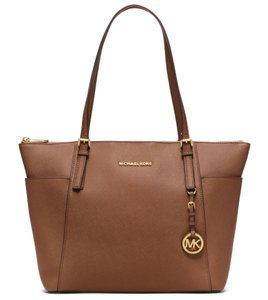 Michael Kors 30f4gttt9l Mk Brown 888235578019 Saffiano Tote in Luggage