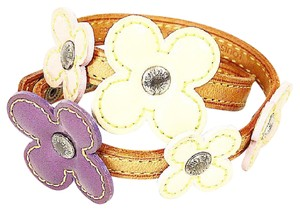 Louis Vuitton Vernis Flowers Leather Wrap Bracelet