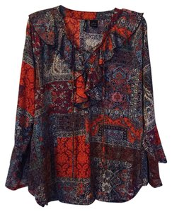 New Directions Top Orange, Blue, Red