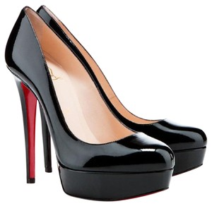 Christian Louboutin Patent Sexy Black Pumps