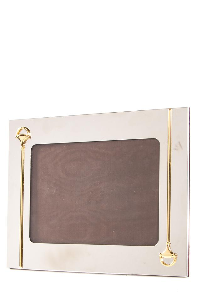 Gucci Silver Horsebit Vintage Gold Picture Frame With Detail Tradesy
