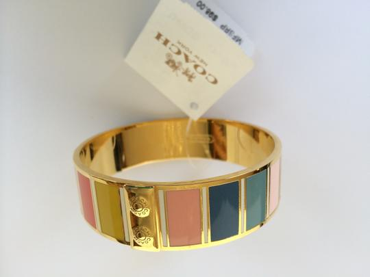 Coach Coach Bracelet Hadley Striped Enamel Bangle