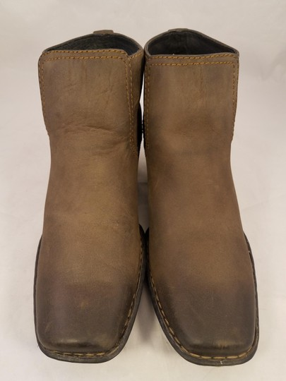 Brn Western Cowboy Ankle Woman Brown Boots Image 1