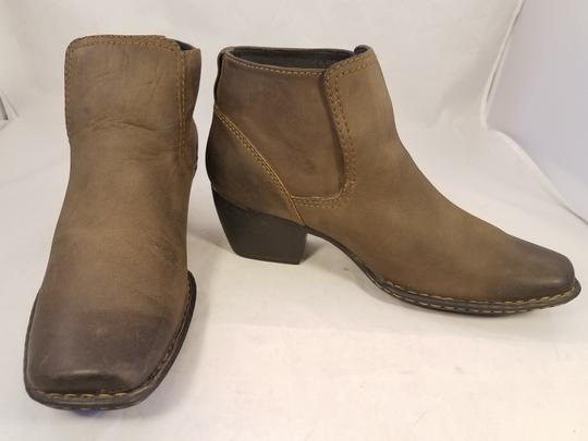 Brn Western Cowboy Ankle Woman Brown Boots Image 2