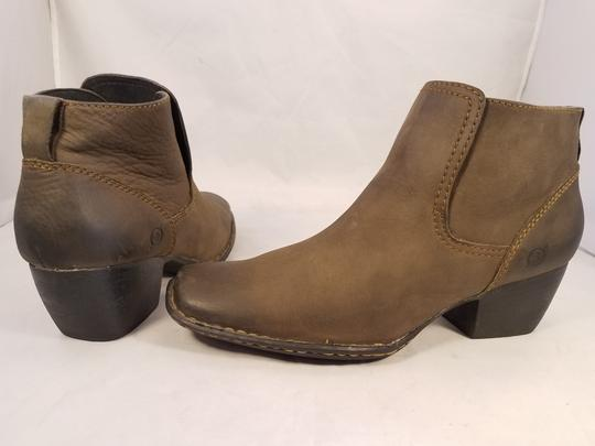 Brn Western Cowboy Ankle Woman Brown Boots Image 3