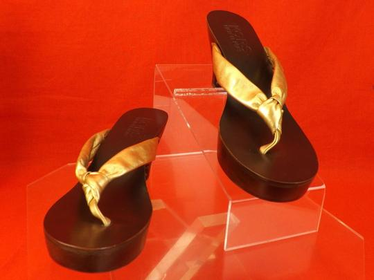 Michael Kors Gold Sandals Image 2